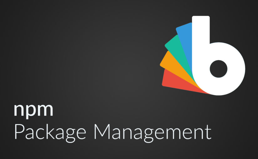 Webframe Management mit npm